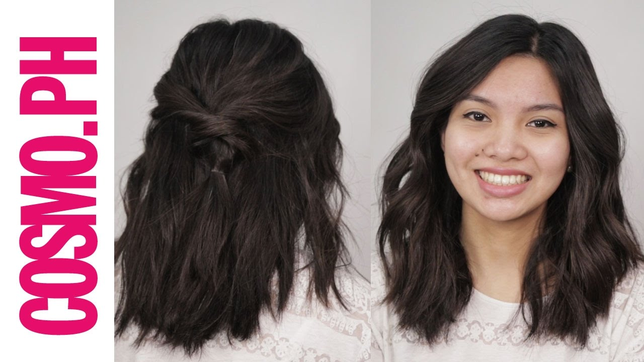 3 Easy Hairstyles For Pinays With Medium Length Hair Youtube