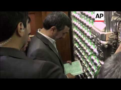 Iranian President Ahmadinejad visits Shiite sites in Iraq