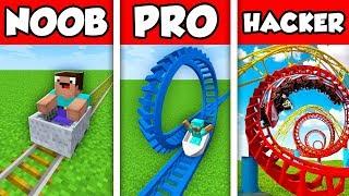 Minecraft NOOB vs PRO vs HACKER : ROLLER COASTER ESCAPE CHALLENGE in Minecraft Animation!