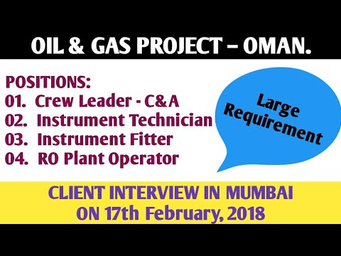 68. CLIENT INTERVIEW – OIL & GAS PROJECT – OMAN.
