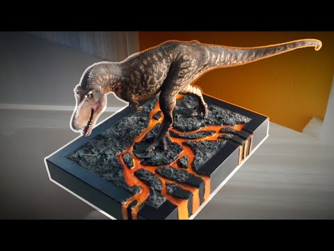 One Doomed Daspletosaurus, Resin Lava Diorama
