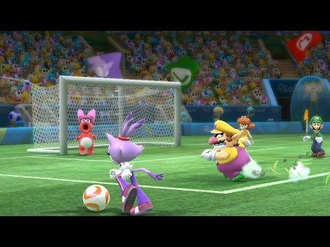 Mario and Sonic at The Rio 2016 Olympic Games #Football -Extra Hard  -Team Daisy vs Team Mario