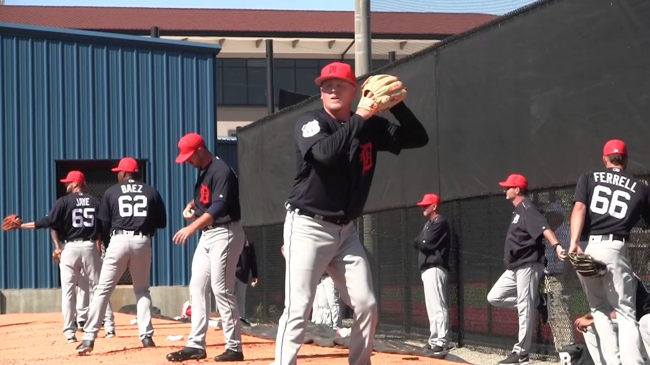 82d0cd76838a84 2017 Tigers Spring Training - Daniel Stumpf throws a bullpen session ...