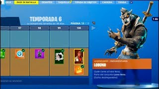 **TEMPORADA 6** SKIN NIVEL 100! TODO COMPRADO! FORTNITE: Battle Royale (Pase de Batalla)