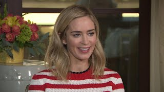 Emily Blunt Reacts to Husband John Krasinski Crying Over 'Mary Poppins' (Exclusive)