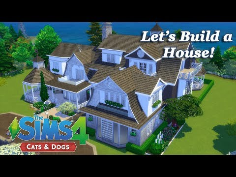 The Sims 4 - Let's Build a House with the Cats and Dogs EP (Part 4) Realtime