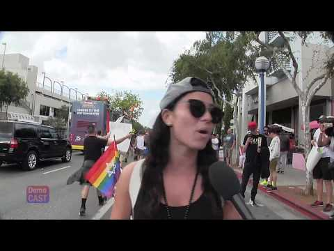Lesbian at Resist March:  Israel offers Arab LGBT's asylum from oppression by Muslims