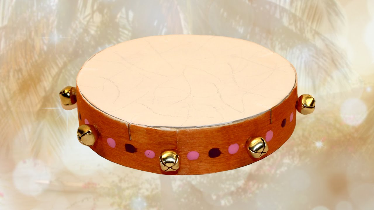 fabriquer un tambourin avec une bo te fromage youtube. Black Bedroom Furniture Sets. Home Design Ideas