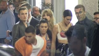 EXCLUSIVE - Kourtney Kardashian, Younes Bendjima and Kendall Jenner at Michelangelo in Antibes