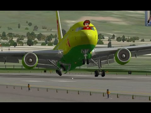 Посадка без шасси. Boeing 767-300ER. X-Plane