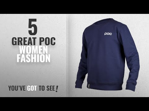 Poc Women Fashion [2018 Best Sellers]: POC Crew Neck Skateboarding Hoodie, Dubnium Blue, Large