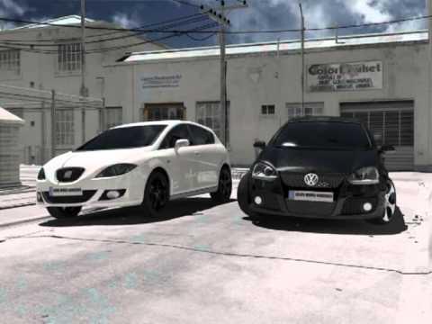 3d project car chase volksvagen golf mk5 vs seat leon mk2 youtube. Black Bedroom Furniture Sets. Home Design Ideas