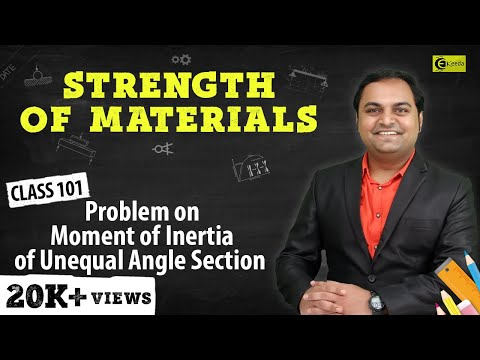 Problem on Calculation of Moment of inertia of Given Unequal Angle Section.