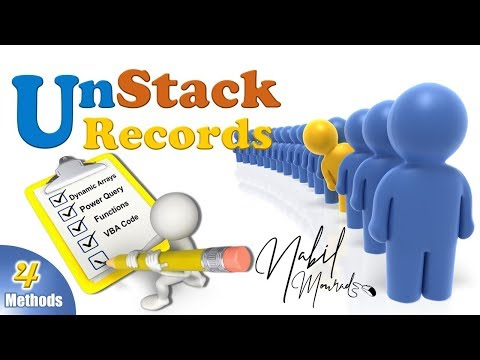 Unstacking Records with 4 Stunning Methods: Power Query vs. Dynamic Arrays vs. Functions vs. VBA