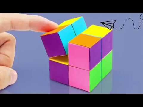 Infinity cube out of paper | Tutorial |