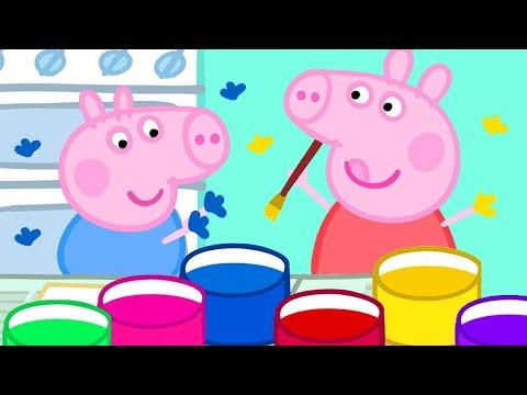 Peppa Pig Français 🎨 Peindre Avec Les Mains Et Les Pommes De Terre   Dessin Animé Pour Bébé