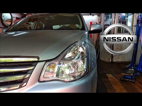 Ниссан Альмера G15 (АвтоВАЗ). Замена рычага передней подвески.