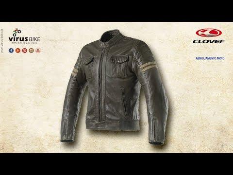 best cheap 81b57 edecd Clover Blackstone giacca in pelle vintage da moto
