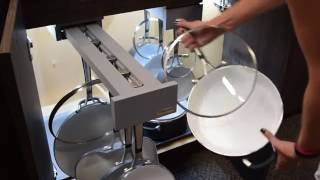 Cookware Organization Video - Pull out drawers vs. Glideware's Cookware Organizer
