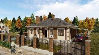 Проект одноэтажного дома в Краснодаре 112 кв.м. | SketchUp + Lumion