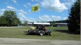 Waterloo Boy Flying the John Deere flag at CHP