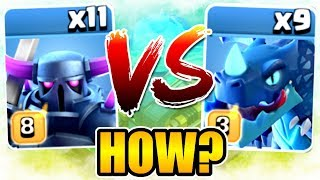 11 IMMORTAL KNIGHTS vs 9 ELECTRO DRAGONS!! - FIGHT TO THE DEATH - Clash Of Clans