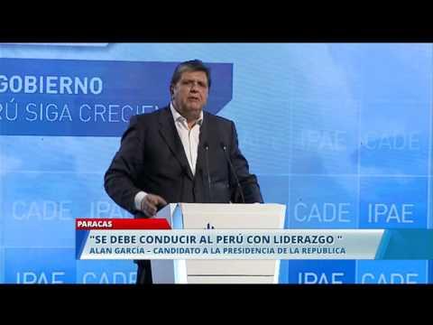 Alan García expone en CADE 2015│RPP