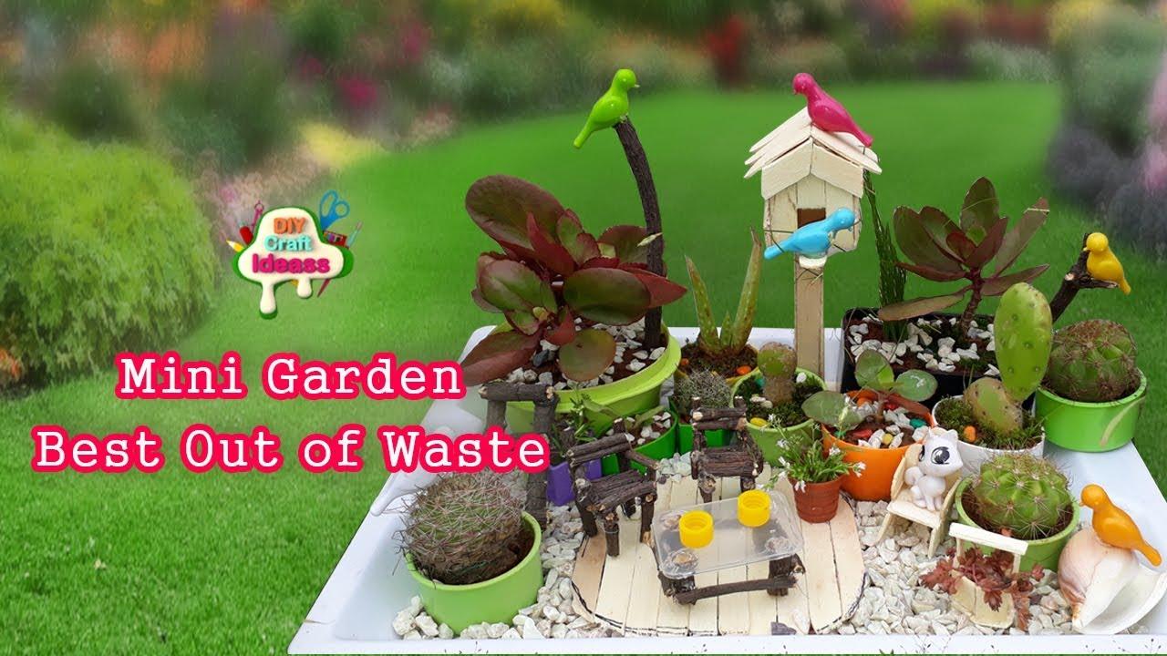 Miniature Japanese Garden Working Chair # Building Popsicle Stick Mansion  Garden | Diy Craft Ideas