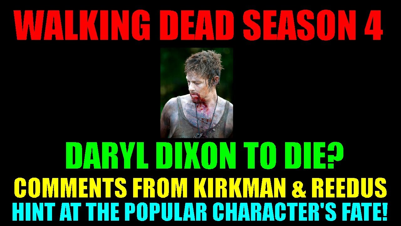 Displaying 18 gt  Images For - Daryl Walking Dead Death   Daryl Dixon Season 4 Dies