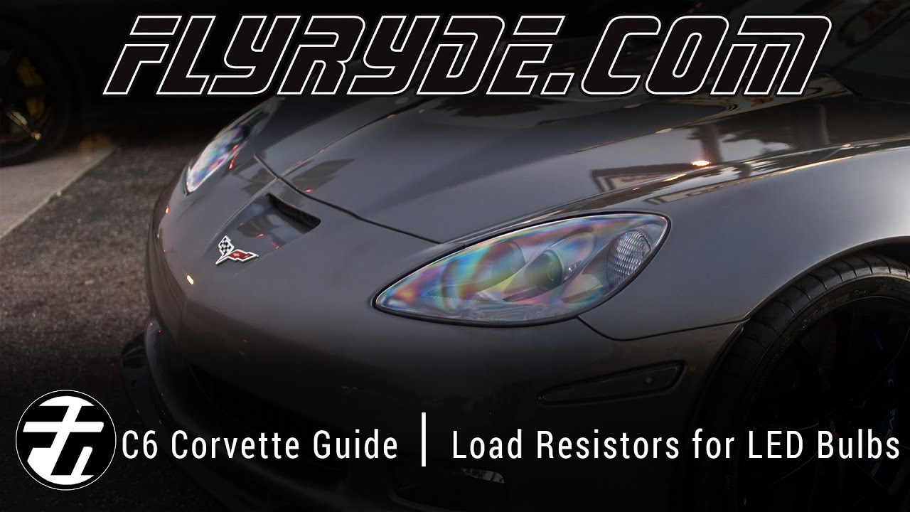 How To Install Load Resistors For Led Bulbs On A Chevy C6 Corvette Fuse Box Harness
