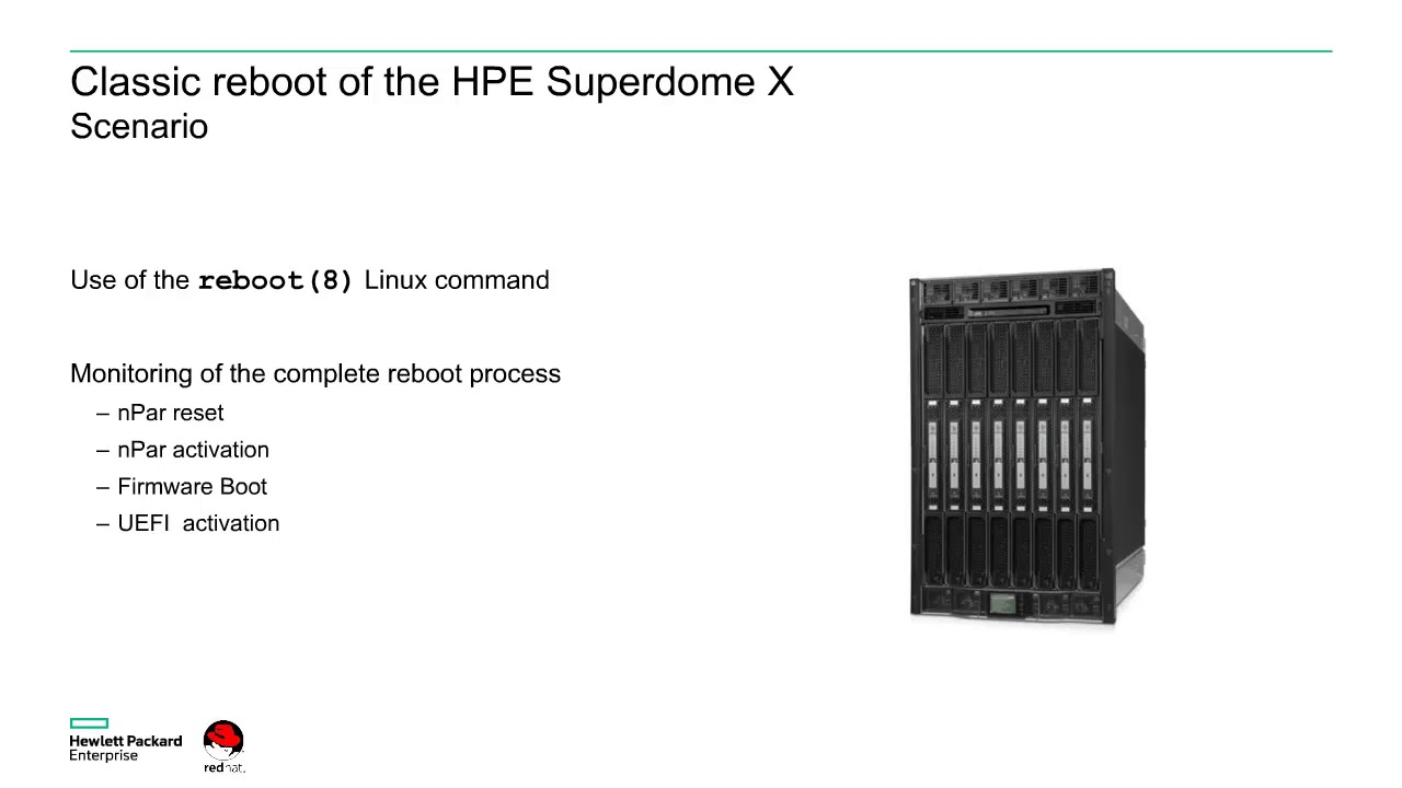 Fast Reboot of a Linux HPE ProLiant server