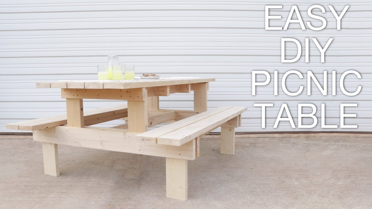 How To Build A Modern Picnic Table Easy Outdoor Diy