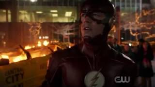 The Flash 4x23/Barry, Cisco, and Ralph save people/Barry and a speedster destroy satellite