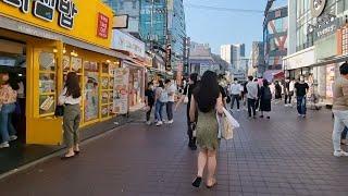 (4K) Saturday Summer Walk in Hongdae Korea 2021 l Seoul 4K Summer Walk in Korea 2021