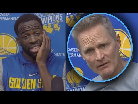 "Steve Kerr YELLS AT DRAYMOND ""WE CANT WIN WITH YOU"" And Draymond GREEN GOES AT HIM"