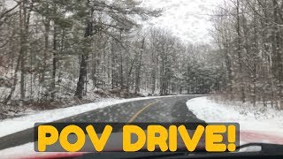 Dodge Charger (V6) POV Drive on Snowy & Empty Roads - Loud Exhaust & Accelerations!