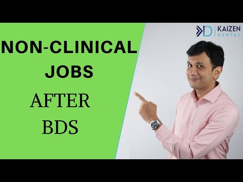 Non Clinical Jobs After BDS