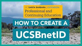 Comment Créer un UCSBnetID