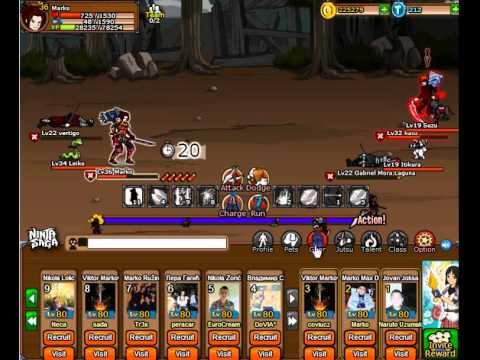 Ninja Saga Live PvP Battle 2v2 Part 1 - 7.15.2014