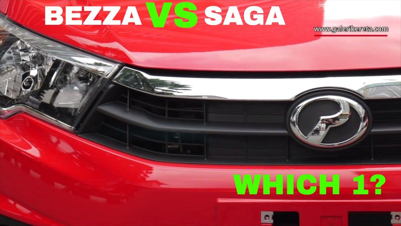 Perodua Bezza Lava Red vs Proton Saga Baru Fire Red. Which