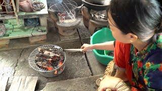 Về nhà dượng Sáu ăn cá lau kiếng hấp sả và nhiều món ngon | Sống ở quê