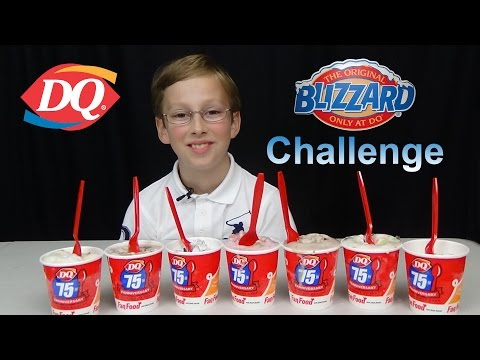 DAIRY QUEEN ICE CREAM BLIZZARD CHALLENGE | COLLINTV