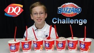 DAIRY QUEEN ICE CREAM BLIZZARD CHALLENGE | COLLINTV