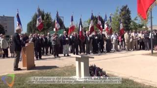 Inauguration d'une stèle commémorant la guerre d'Algérie - Édition 2015 à Avallon (89)