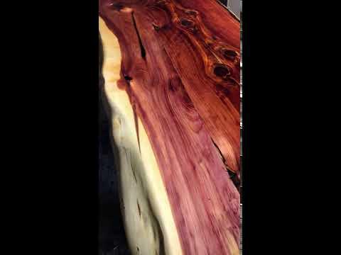Epoxy Coated Cedar Tabletop