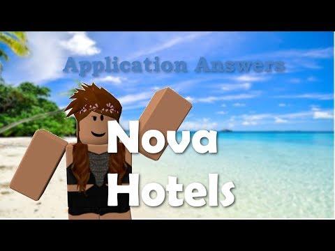 Nova Hotels Application Answers 2018 Roblox Youtube