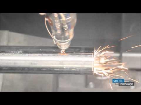 VILLING Technologie - Profillaser Schneidanlage - Rund-Rohre für Treppenstützen - Laser Clip