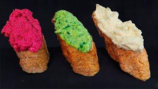 Три Намазки на Хлеб за 5 минут. Простой рецепт закуски из того что есть в холодильнике!