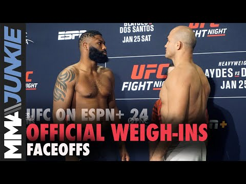 UFC on ESPN+ 24 weigh-in faceoffs