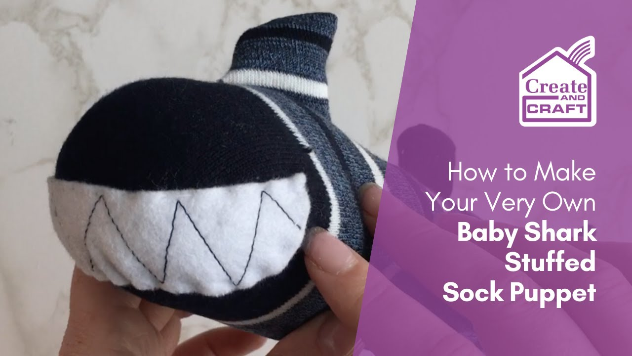 How to Make a Baby Shark Sock Puppet YouTube